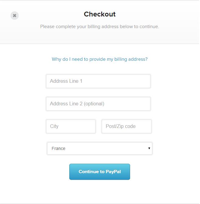 Checkout with billing address