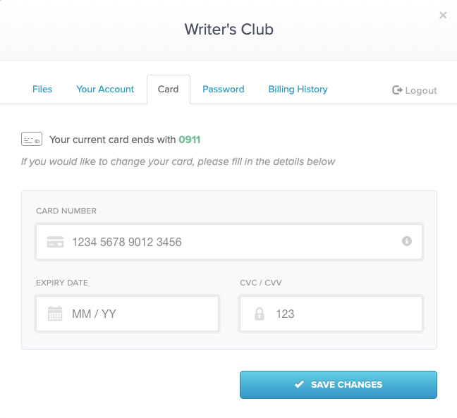 How to update your billing card for a subscription on Payhip