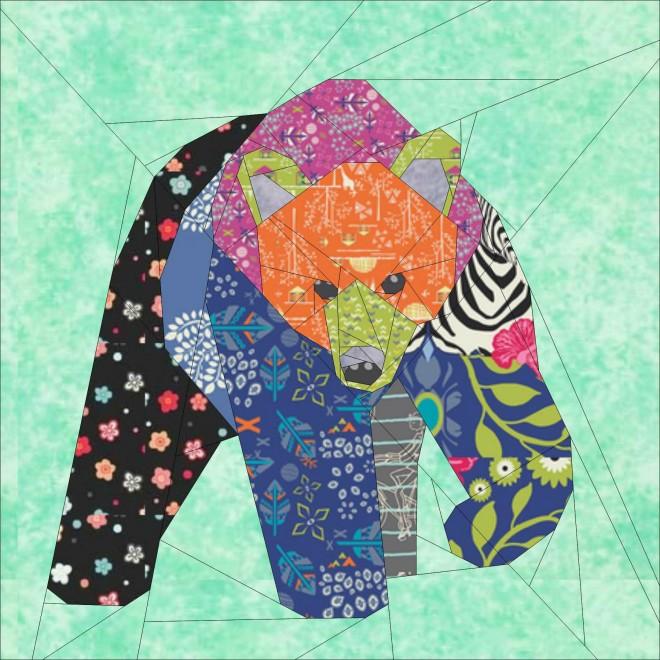Big Bear- A 30 Inch Paper Pieced Quilting Pattern : paper pieced quilts - Adamdwight.com