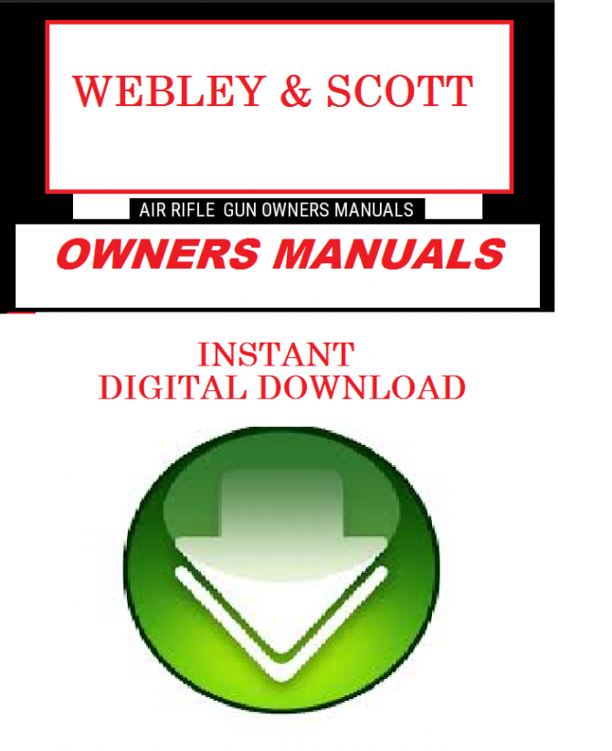 WEBLEY & SCOTT AIR RIFLE GUN OWNERS MANUALS EXPLODED DIAGRAMS SERVICE  MAINTENANCE AND REPAIR