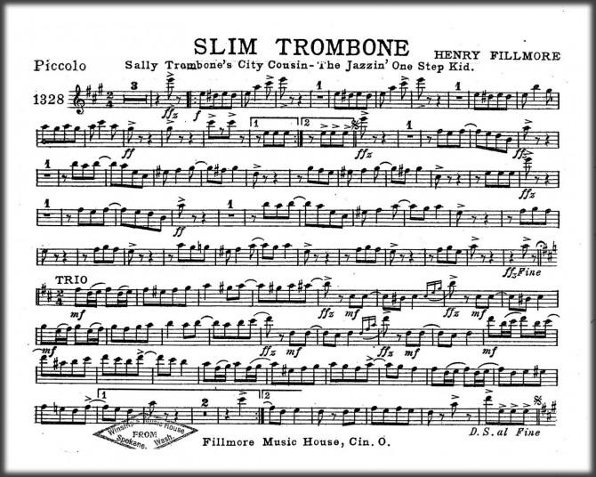 Marching Band Sheet Music - Slim Trombone by Henry Fillmore EBOOK PDF